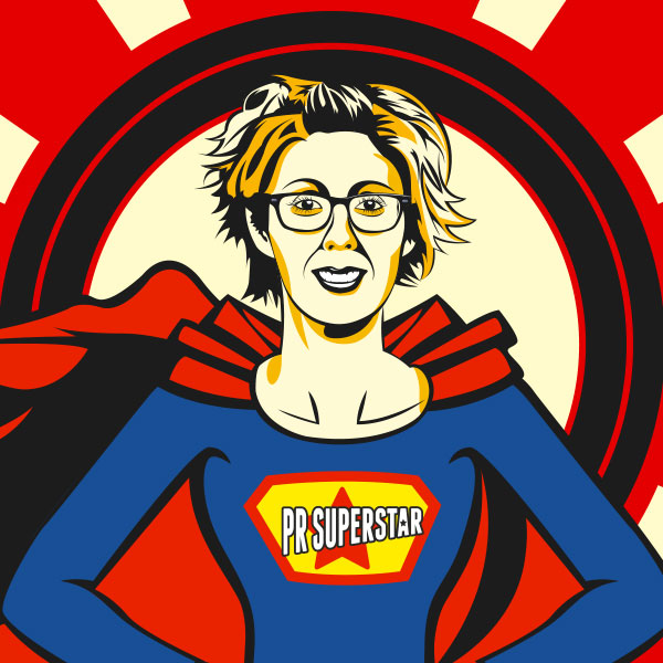 PR Superstar Jill Kent Illustration